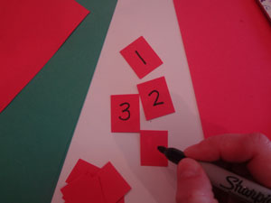 preschool numbers craft step 4