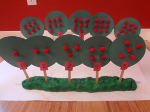 apple tree numbers craft