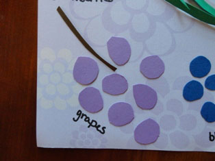 cardstock grapes craft