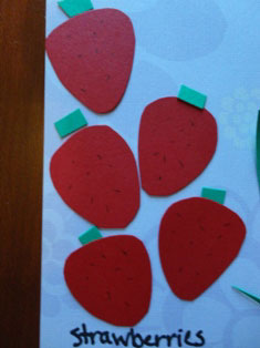 cardstock strawberries