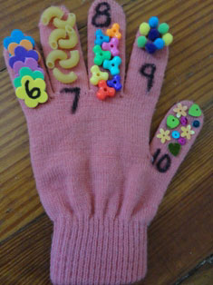 kids counting craft