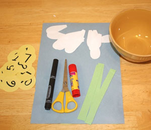 daisy petal math craft materials