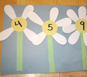 daisy petal math craft