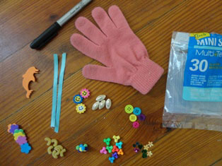 counting glove craft materials