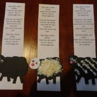 Baa, Baa Black Sheep Nursery Rhyme Craft