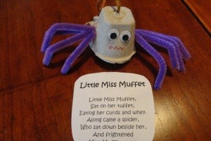 Little Miss Muffet Nursery Rhyme Craft