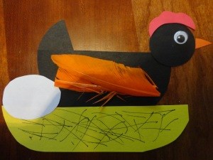 Hickety, Pickety, My Black Hen Nursery Rhyme Craft