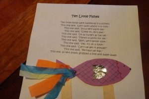 Ten Little Fish Nursery Rhyme Craft