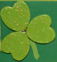 St. Patrick's Day Picture Frame Detail