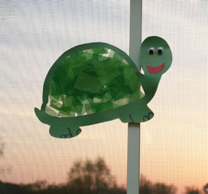 sun catcher turtle on window