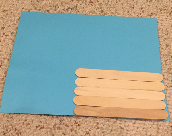 lincoln popsicle stick cabin craft step 1
