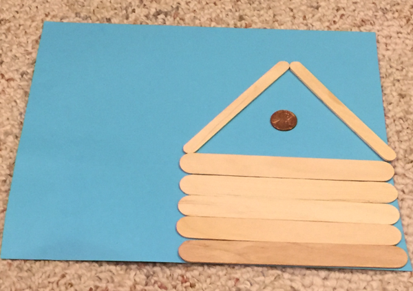 lincoln popsicle stick cabin craft step 2