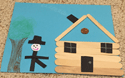 abe lincoln popsicle stick log cabin craft