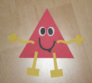 kids triangle shape craft