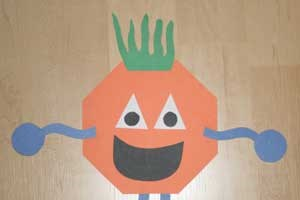 Octagon Shape Monster Craft
