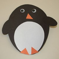 Oval Penguin Craft