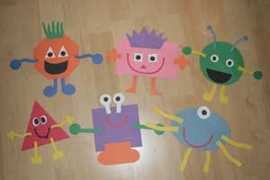 Shape Monster Crafts