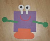 Square Shape Monster Craft