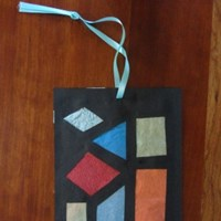 Stained Glass Shape Decorations