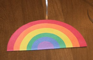 Circle Rainbow Craft