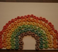 Fruit Loops Rainbow Craft