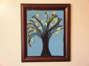 spring button tree craft