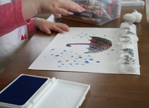 Fingerprint Rain Craft All Kids Network