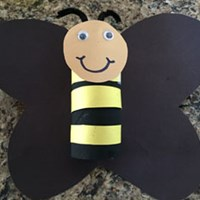 Toilet Paper Roll Bumble Bee Craft