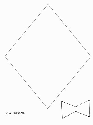 This is a picture of Kite Template Printable throughout stencil