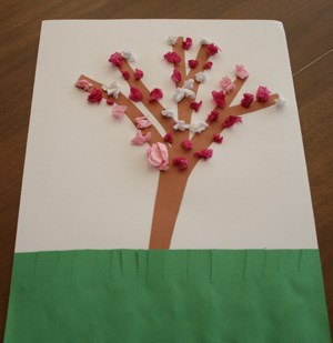 Tissue Paper Blossom Craft