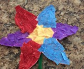 Tissue Paper Flower Craft