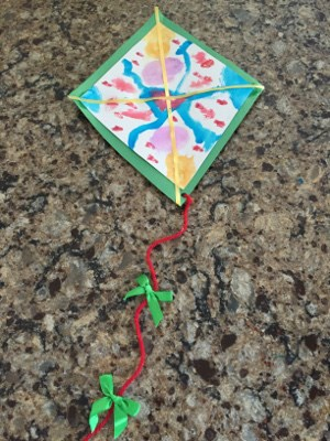 Watercolor Kite Craft