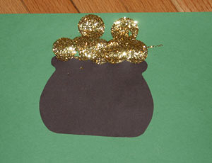 glitter pot of gold craft