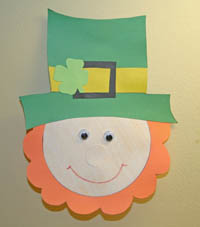 paper leprechaun craft