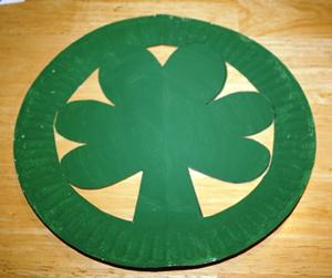 paper plate shamrock hat all kids network