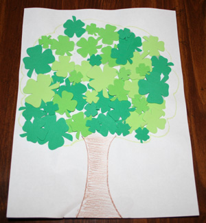 shamrock tree craft