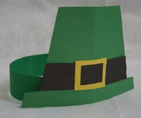 Paper Leprechaun Hat Craft