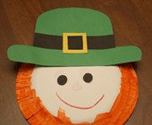 Paper Plate Leprechaun Craft