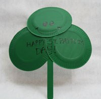 Paper Plate Shamrock Craft