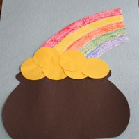 Paper Pot of Gold Craft