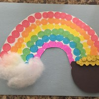 Pot of Gold Rainbow Craft