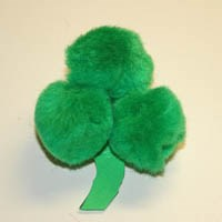 Shamrock Pom-pom Pin Craft