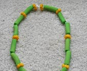 St. Patrick's Day Pasta Necklace