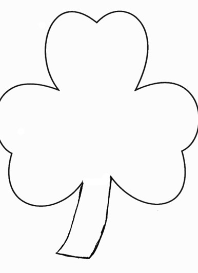 St.-Patricks-Day Crafts - Print Your Shamrock Template | All Kids