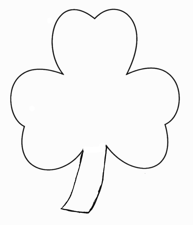 StPatricksDay Crafts  Print Your Shamrock Template  All Kids