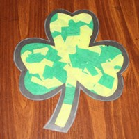 Tissue Paper Shamrock Craft