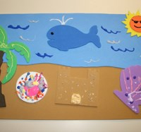 Craft Foam Beach Scene