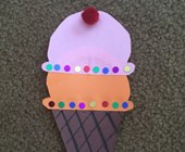 Paper Ice Cream Cone Craft