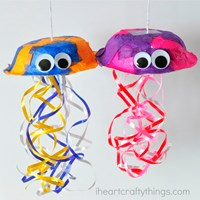colorful jellyfish craft