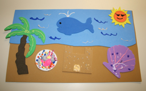 beach scene craft